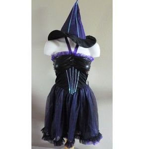 Womens PURPLE SEQUIN WITCH costume Size Sm 2-4